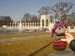 swatchy at wwii memorial