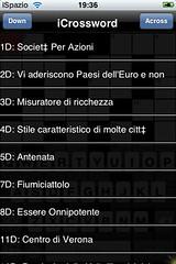 Crossword iSpazio Easy Level italian