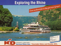 Rhine Cruise Lines (Piedmont Fossil) Tags: germany brochure rhine rhineriver