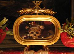 St Valentine's relics in Rome (Lawrence OP) Tags: rome saint skull shrine bones priest martyr relics stvalentine february14 reliquary