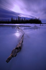 Frozen In (Wolfhorn) Tags: winter cold ice alaska river landscape frozen long exposure purple moonlight platinumphoto