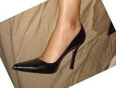 another business heel (wifelegs) Tags: shoe pointy toe heel stiletto hogtie