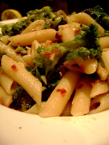 Pasta with kale, chilli and anchovy