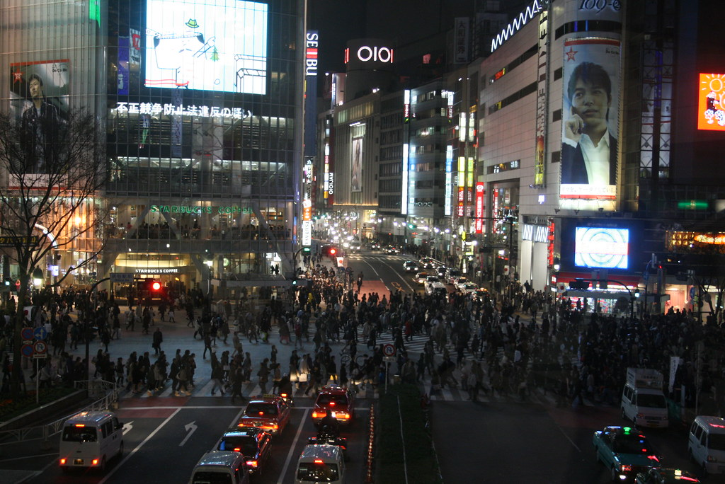 shibuya crossing en pleno apogeo