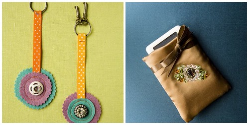 Bits and Baubles Keychain and Vintage Style iPod Cozy