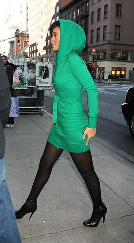 rihanna green hoodie