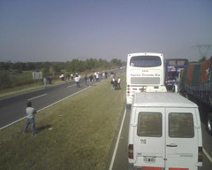 farmer's strike leads to stand still on the highway