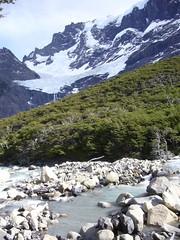 Torres del Paine - trek - riviere - glacier frances