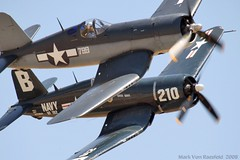 Corsairs (mvonraesfeld) Tags: museum plane flying fighter aircraft aviation wwii flight airshow corsair chino f4u chancevought aplusphoto