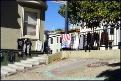 finally time to wash my clothes..... :)) (hans-jürgen2013) Tags: clothes laundry sanfrancisco usa wash sun