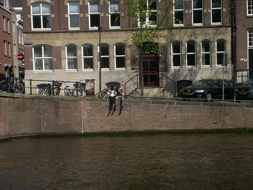 a couple in Amsterdam