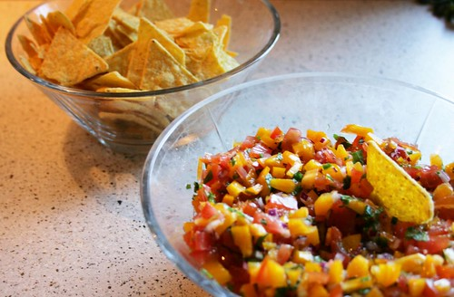 fresh salsa with mint
