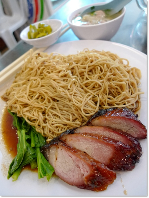 Wantan Mee with Char Siew