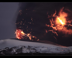Armageddon - Eyjfjallajkull Eruption (orvaratli) Tags: mountain snow ice landscape fire volcano lava iceland explosion strike lightning thunder eruption explosive magma katla icelandic fimmvruhls eyjafjallajkull eyjafjallajokull fimmvorduhals arcticphoto rvaratli orvaratli lpmountain lpmountains