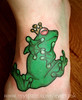 frog tattoo www.myspace.com/evies.ink