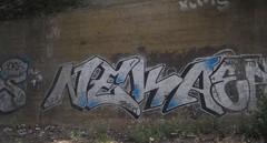 Neka 3 (Tonsils) Tags: uk london graffiti chrome graff dub bombing trackside tbf neka 1t nekah