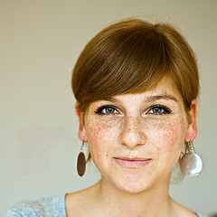 (frischmilch) Tags: portrait woman girl smile face female studio eyes freckles sonnenschein bigi antwerpes asradiantbeautifulandwarmassunshine