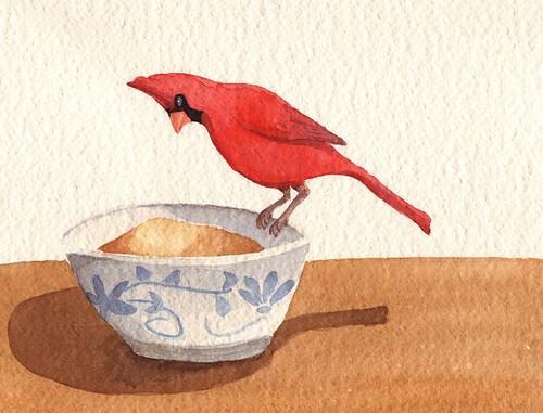 A Cardinal's Breakfast