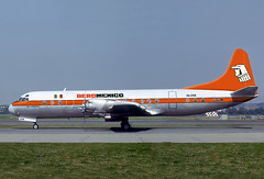 AeroMexico, XA-DVA, Lockheed L.188A, or how she was intended to look like ! (via Jacques Guillem) (AlainDurand) Tags: airports lockheed electra airliners aircrafts aeromexico airtransport worldairlines l188 lockheedl188electra propeliners latinamericanairlines airlinesoftheamericas airlinesofmexico