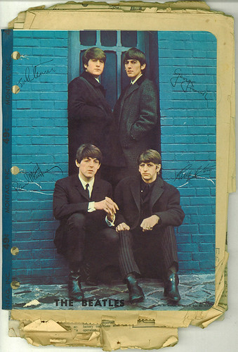 My Mom's Beatles notebook