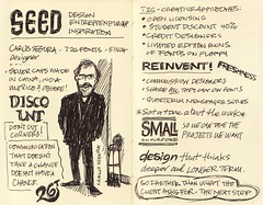 SEED Conference: Sketchnotes 01-02 (Mike Rohde) Tags: chicago moleskine null design sketch notes fried 37signals segura coudal rohde seedconference makalumedia rohdesign sketchnotes