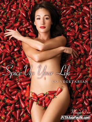 PETA Asia Pacific's ad showing a nude woman lying on a bed of Red hot chillies Bhoot jhalokias