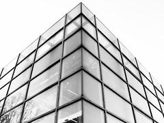 Campus Life #1 (JFK666) Tags: windows bw white house black window glass lines architecture germany dark campus lumix university andrew line aachen dmc rwth baumhaus fz8 jfk666 ps5160