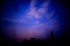 welcome to the new world (TommyOshima) Tags: winter sky lomo lca shinjuku kodak blimp e100vs soe 47 minitar