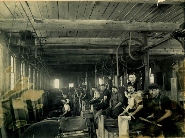 Workers at the Clement Manufacturing Co.