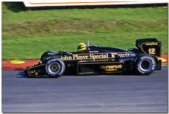 Ayrton Senna JPS Lotus Renault 97T F1. 1985 European GP Brands Hatch. (Antsphoto) Tags: uk slr classic ford car speed 35mm one lotus britain grand f1 racing historic renault grandprix prix turbo formulaone formula british hatch canonae1 1980s 1985 motorsports formula1 senna gp brands groundeffects motorsport racingcar turbocharged autosport cosworth kodakfilm ayrton jps ayrtonsenna blackgold carracing blackandgold motoracing johnplayerspecial f1car formulaonecar britishgp dfv formula1car jpslotus teamlotus tamron70210mm f1worldchampionship lotusrenault grandprixcar antsphoto caracing canonae135mmslr sennalotus fiaformulaoneworldchampionship f1motoracing formula11980s anthonyfosh formula1turbo