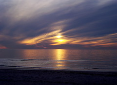 Sunset Over Old Silver Beach