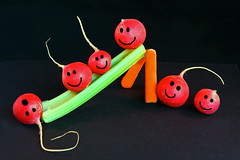 Radishes at play (Ali QJo) Tags: food radishes carrots funwithfood celery smileyfaces happyfaces project365 photofaceoffwinner photofaceoff cmwdred pfogold acg2ndplacewinner alijohnsoncom