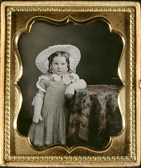 Daguerreotype of Girl with Crocheted or Knitted Gloves * (Photo_History - Here but not Happy) Tags: crochet daguerreotype polkadot fingerlessgloves