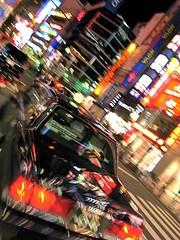 Follow that cab! Shinjuku (philipjbigg) Tags: travel people tourism japan modern japanese tokyo asia traditional sightseeing streetphotography places adventure nighttime journey neonlights colourful cultural neonsigns sociology nightshooting 21stcentury longexposures colourfulbuildings philipbigg philipjbigg