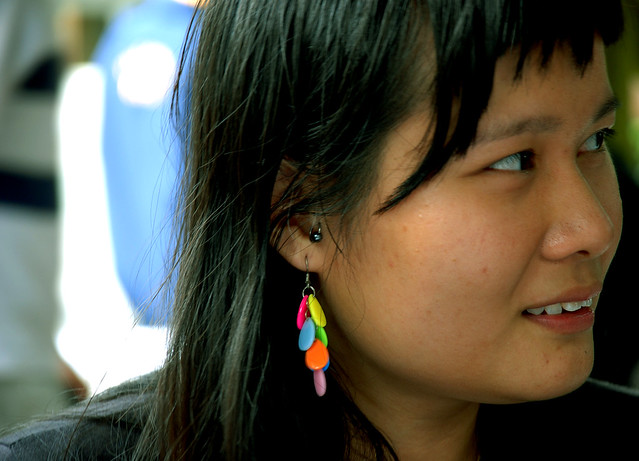 The Unknown: colorful earing