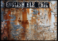 English Electric (Superlekker) Tags: uk england sign yard rust decay shed engine railway northeast tanfield englishelectric superlekker