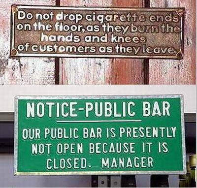 Notice - Public Bar