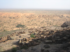 Dogon Village, desert in the back