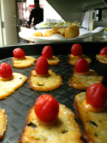confit cherry tomato, chipotle mayo crostini
