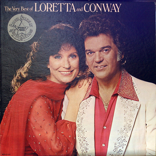 Heartache Tonight Conway Twitty Album Cover. Loretta and Conway 6492