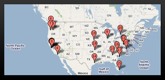 Google data centers in USA