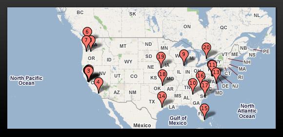 Google data centers in USA