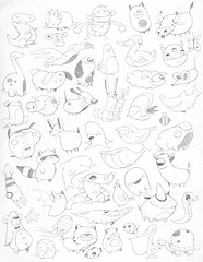 Creatures (TheGrossUncle) Tags: animals illustration pencil sketch cartoon animation videogame designs creatures characterdesigns grantgilliland thegrossuncle