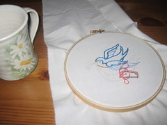 Embroidery (rinn16) Tags: bird embroidery stitching sublime