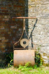 Lawn roller laid to rest in a quiet corner of Heligan