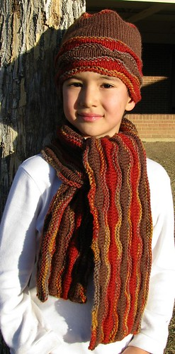 3. Place Winner Vanna's Choice Contest - Fall Waves Scarf and Cap