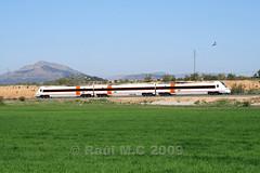 R-598 bajando a Granada (Maky_Heavy) Tags: verde tren media cereal via granada campo trigo distancia renfe automotor regionales 598 r598 piñar iznalloz