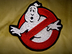 Ghostbusters Patch (JD Hancock) Tags: red circle photo image ghost picture cc tuesday scifi patch char ghostbusters nogeo inkitchen 7daysofshooting texturedtuesday jdhancock week44circular