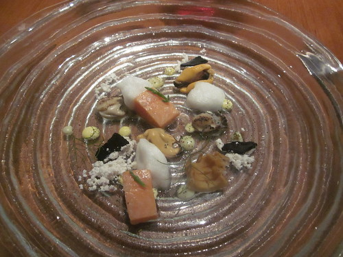 Atelier Crenn - San Francisco - June 2011 - The Sea, An Interpretation of Aquatic Flavors - Mussels, Oysters, and Artic Char