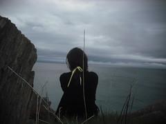 yellowribbon (klausfish) Tags: ocean girl yellow newfoundland back atlantic ribbon